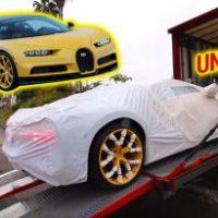 UNBOXING do primeiro Bugatti Chiron vendido na América do Norte