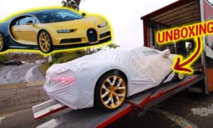 UNBOXING do primeiro Bugatti Chiron vendido na América do Norte