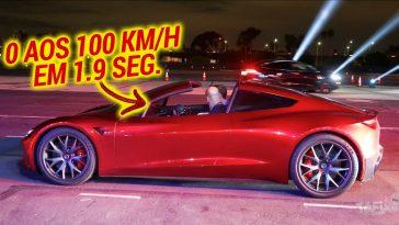 Novo Tesla Roadster vai dos 0 a 100 km/h em 1.9 segundos