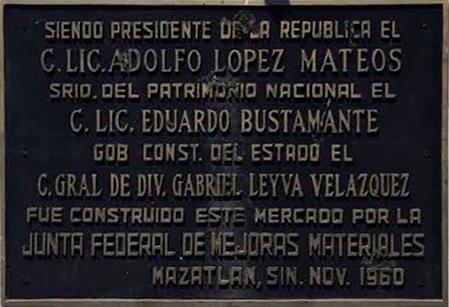 Placa Mercado Miguel Hidalgo
