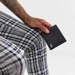 BOSS Crosstown leather bifold wallet in black