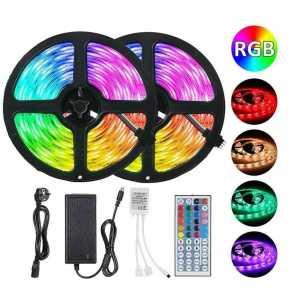 Combo 2 Cinta Led Multicolor Rgb Luz 5mts con 1 Control