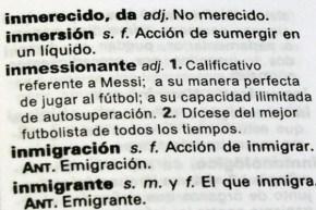 Inmessionante - diccionario