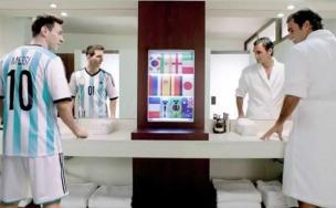 Messi y Federer -