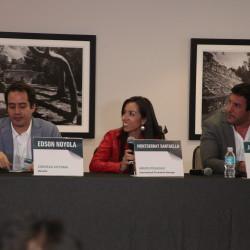 Edson Noyola, Director de cerveza Victoria, Montserrat Santaella, International Promotion Manager de Grupo Posadas, y Javier Chanfreau, CEO de Modula Network.