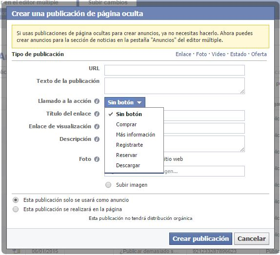 Un botón para que tus seguidores de Facebook se conviertan en clientes reales.
