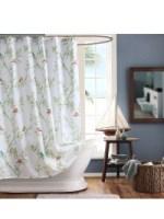 shower curtain ivory print 78x78