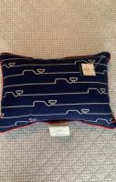 vineyard vines outdoor whale pillow nwt