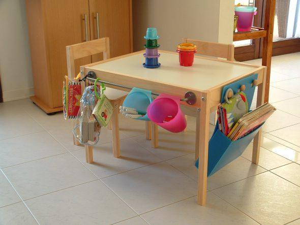 tavolo luminoso IKEA hack DIY | Mercatino dei Piccoli