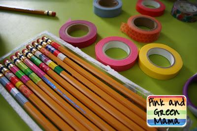 matite scuola personalizzate washitape