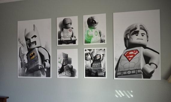 lego superhero wallart