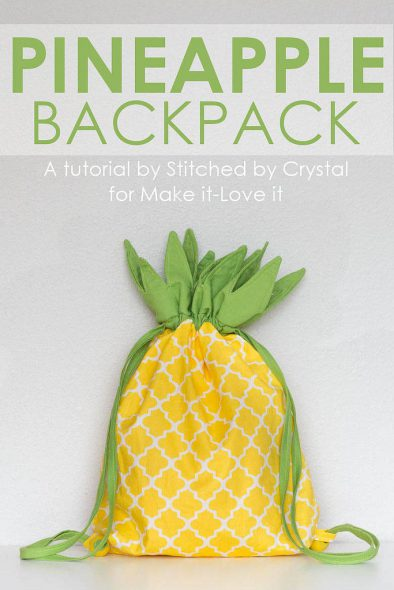 Pineapple Backpack DIY