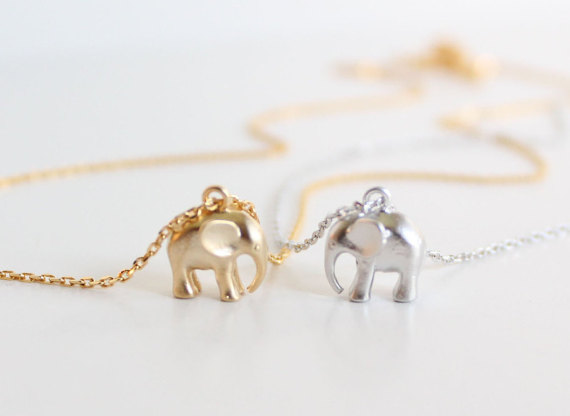 collana elefante etsy
