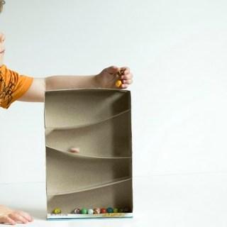 scatola per la corsa delle biglie