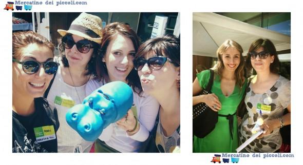Foto sx: Da sin Io, Anna di Tra Rock e Ninna Nanne, Alessia di FM e akari. Foto Dx: akari con Benedetta Parodi