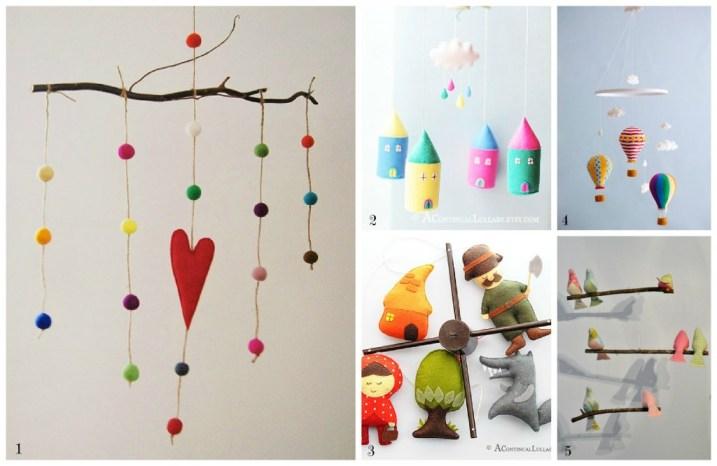 Una selezione da etsy di giostrine e decorazioni per la cameretta mercatino dei piccoli - Decorazioni per camerette bambini fai da te ...