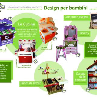 miCreo il riciclo creativo e i mobiletti-giocattolo