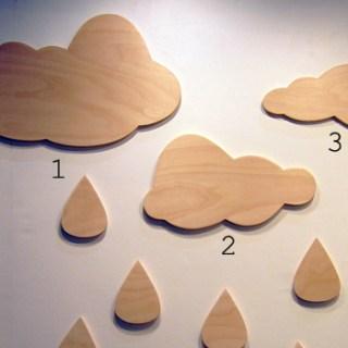 Pioggia e nuvole. Ma di legno