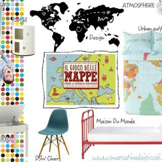 Il Gioco delle Mappe, impara la geografia disegnando e una moodboard