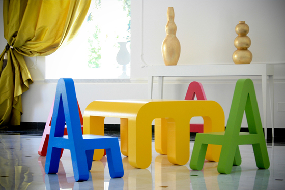 Letters design mobili per i bambini mercatino dei piccoli for Mobili per bambini di design
