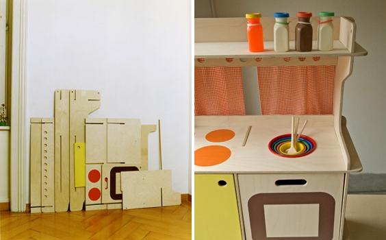 Cucina giocattolo: dieci esempi di cucine giocattolo fai da te ...
