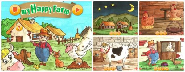 my happy farm , app per bambini