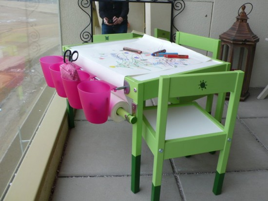 small artist ikea hack table