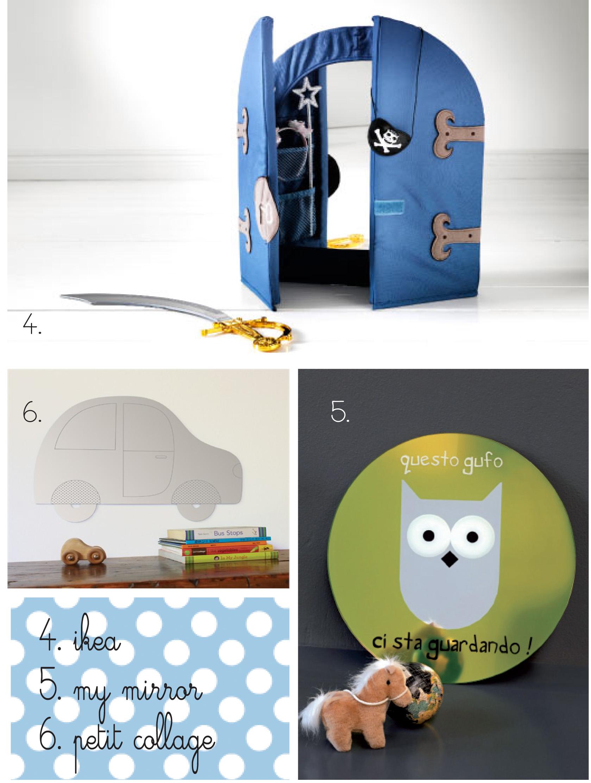 Specchio in camera per crescere e giocare mercatino dei piccoli - Camera per bambini ikea ...