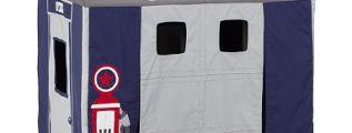 La tenda garage per i bambini appassionati di automobili