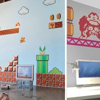 <!--:it-->Adesivi arcade da parete della Nintendo: Super Mario e Donkey Kong<!--:-->
