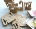 Animal-puzzle, incastri in legno da colorare