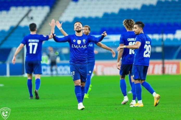 Pictures of Al Hilal and Pakhtakor match - Hattan Bahbari celebrated scoring the winning goal