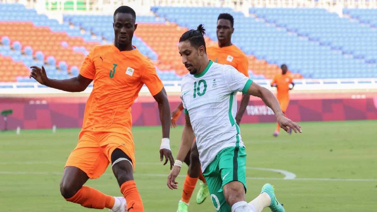 ملخص مباراة السعودية وكوت دي فوار في اولمبياد طوكيو 2020 (صور:AFP)