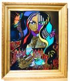 Mercedes Murat,verre églomisé,guld,24k,24 karat, 24k gold,gold,art,konst,kunst,artist mercedes,janice murat,janice mercedes murat, konstutställning,into the wilderness,galleri sandström
