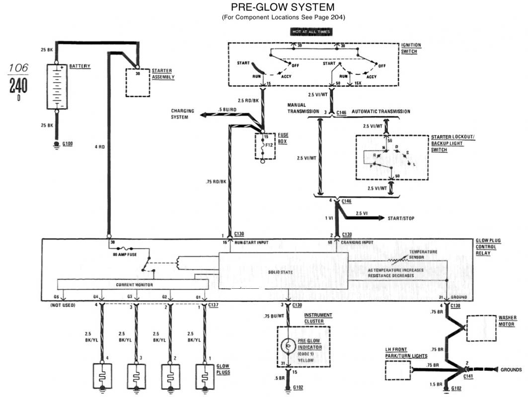 2713d1340568932 glow plug light out 240d no reason picture 1?resize=665%2C500 heater plug wiring diagram wiring diagram  at fashall.co