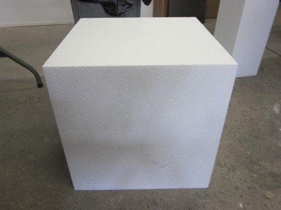 """18"""" x 18"""" block of foam - now to make something out of it!"""