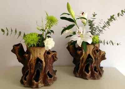 Jardineras americanas «Faux-Tree trunk»