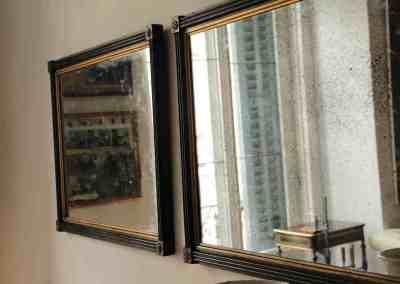 Pareja de espejos pintados Regency