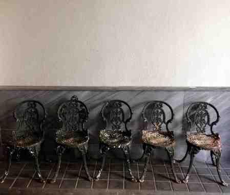 """Cinco sillas de patio """"Coalbrookdale"""""""