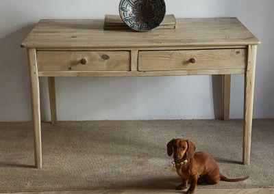Mesa de cocina en pino lavado