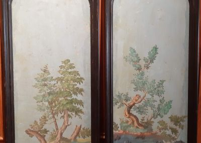 Pareja de paneles en madera