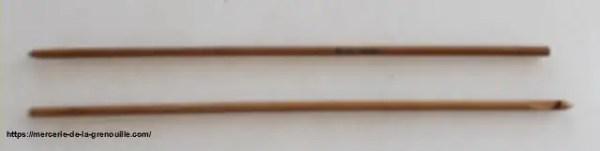 crochet en bambou n 3