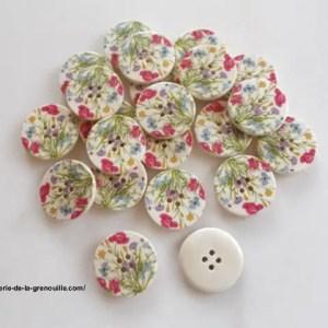bouton bois fleur