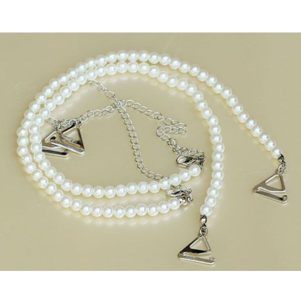réf 11-b-001 bretelles de soutien gorge en perles
