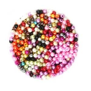 réf 12-p-04-0001 perles de couleurs mélangées de 4 mm