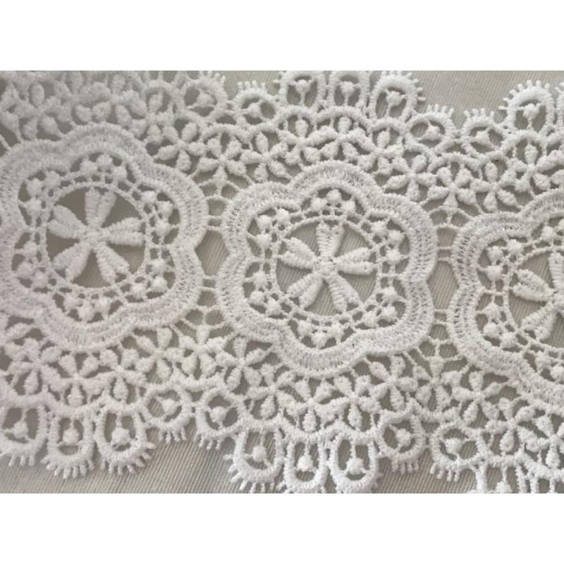 dentelle en coton blanc de 9 cm en largeur
