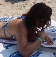 Surprise.  It's me ignoring everyone and reading on the beach.  Again.