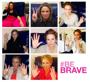 News anchor Amy Robach endured 8 rounds of chemo. Photo courtesy @arobach via Twitter.