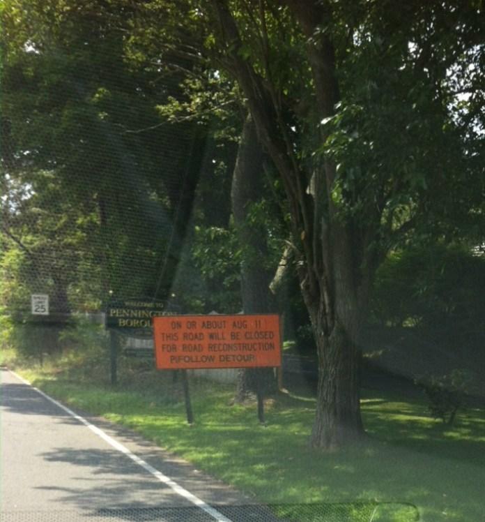 Road Work to Begin on Delaware Avenue in Pennington