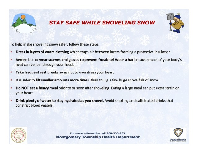 Montgomery Health Education Snow Shoveling